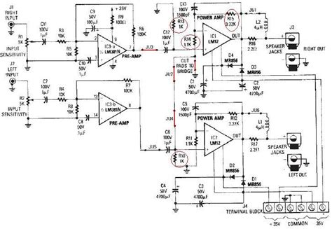 Power Lifier Ca 12 4 channel power lifier circuit diagram wiring diagram