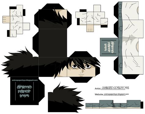 Note Papercraft - mu 241 ecos armables de anime note note and papercraft