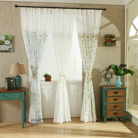 Sheer Curtains For Patio Doors Affordable Yarn Leaf Balcony Patio Door Sheer Curtains