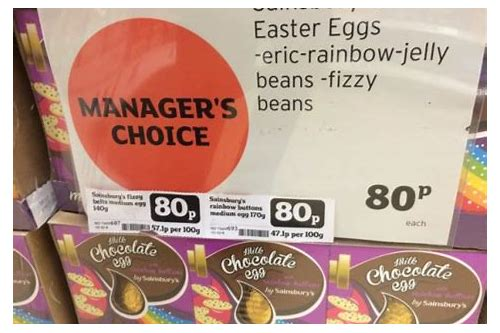 sainsbury's easter egg deals