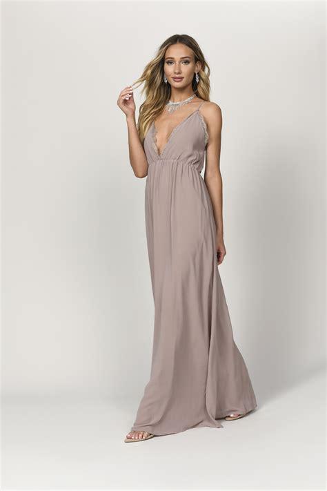 sexy rose maxi dress plunging dress pink dress maxi
