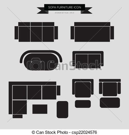 Sofa Draufsicht by Vectors Illustration Of Sofa Furniture Icon Top View For