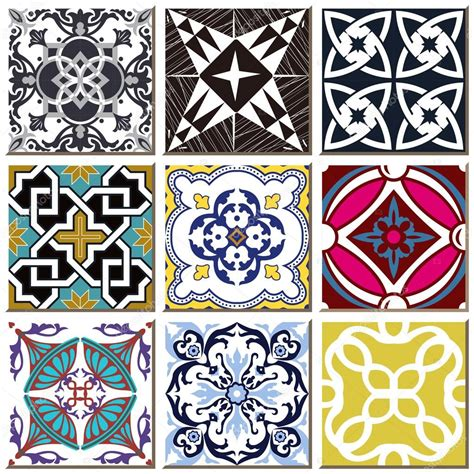 retro pattern wall tiles vintage retro ceramic tile pattern set collection 029