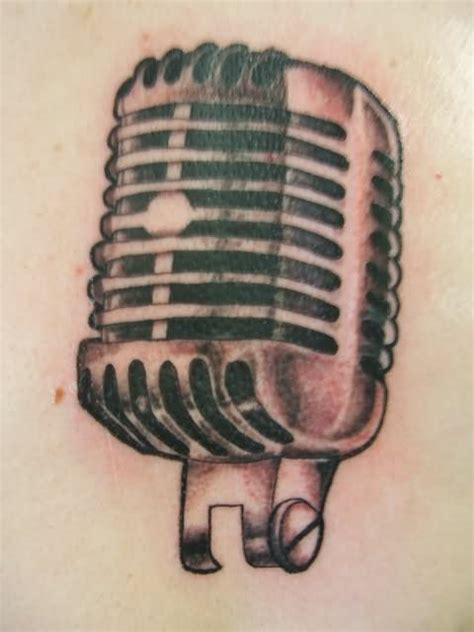 microphone tattoo stencil old school microphone tattoo design by madeline cornish