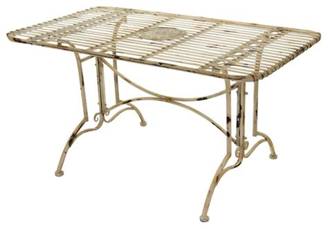 rustic rectangular garden table distressed white