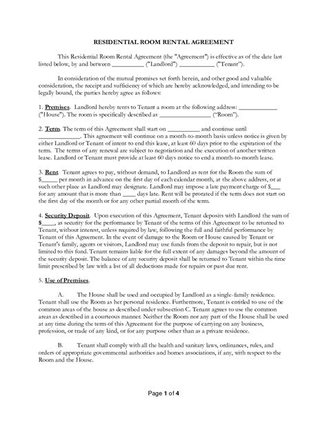 residential room rental agreement 10 best images of residential room lease agreement form residential room rental agreement form