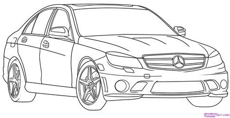 car drawing how to draw a mercedes benz step by step cars draw cars