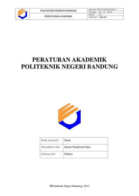 email polban peraturan akademik 2013 politeknik bandung