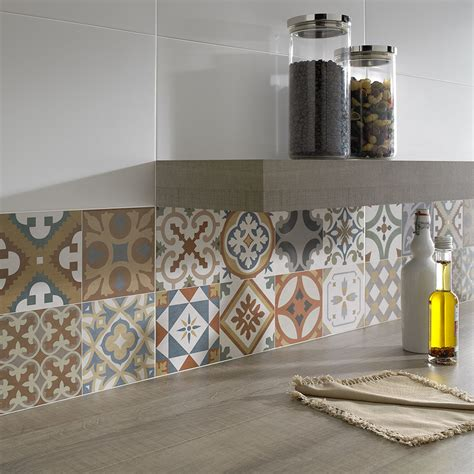 wall tile kitchen backsplash top 15 patchwork tile backsplash designs for kitchen