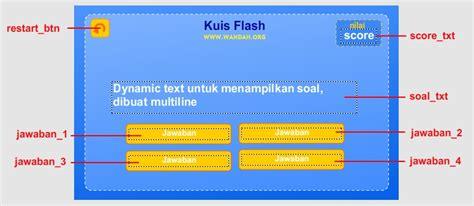 tutorial flash kuis tutorial membuat game kuis dengan flash as 3