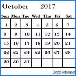 Calendar 2017 October 2017 October Calendar Templates Tools