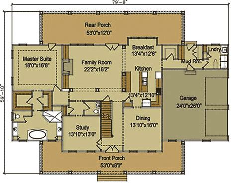 farmhouse floor plan architectural designs