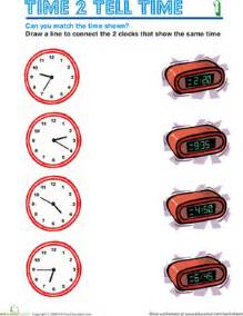 reading clocks worksheet education com