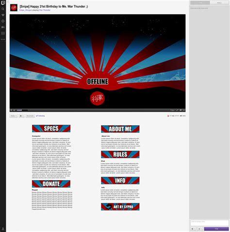 twitch layout artist shogun twitch layout by sypr0 on deviantart