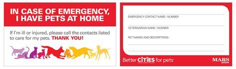 Pet Emergency Card Template by In Of Emergency Wallet Card Best Photo Wallet