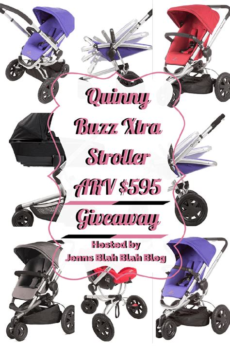 Stroller Giveaway - the quinny buzz xtra stroller giveaway arv 595 jays sweet n sour life