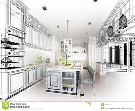Cuisine D été Design 4821 by Progettazione Astratta Di Schizzo Della Cucina Interna