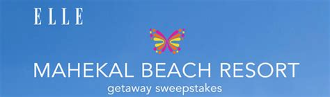 Resort Sweepstakes - elle com mahekal beach resort sweepstakes