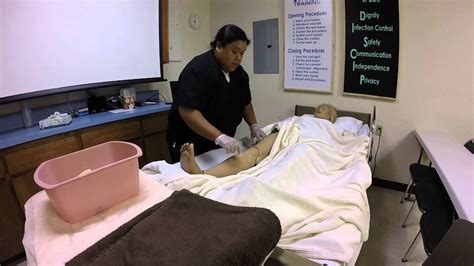 bed bath a cna skill 10 give the resident a partial bed bath lower