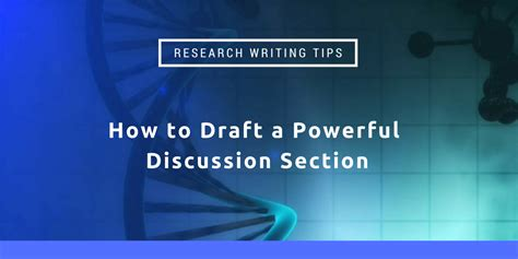 how to write the discussion section of a lab report research writing tips how to draft a powerful discussion