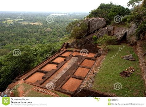 3d House Plan sigiriya lion s rock in sri lanka royalty free stock