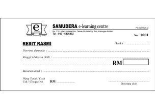 resit rasmi official receipts pbe enterprise kedai buku