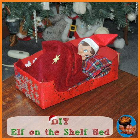 diy on the shelf bed glittering muffins