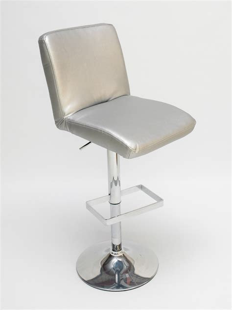 Silver Leather Bar Stools by Mandalay Silver Bar Stool Hire Lounge