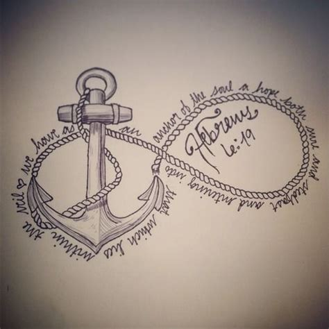 infinity tattoo with bible verse biblical tattoos quotes anchor quotesgram