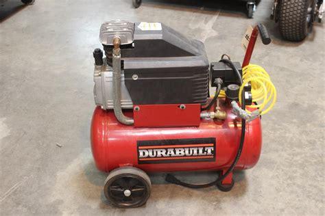durabilt model dp0200604 portable air compressor property room