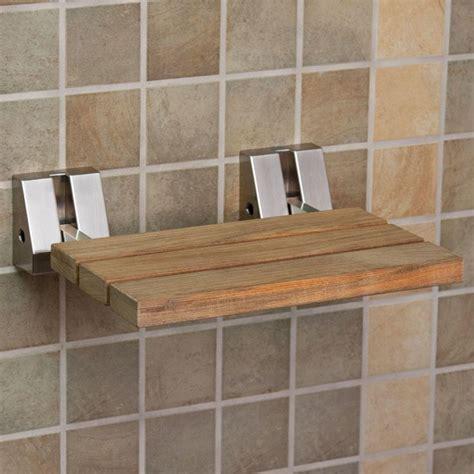 wall mount teak folding shower seat wall mount teak