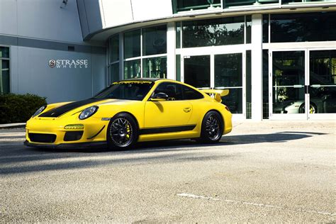 porsche supercar black speed yellow porsche 911 gt3 with satin black strasse