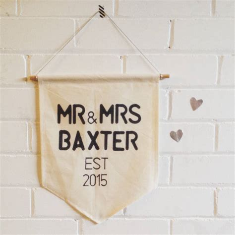 Wedding Banner Mr And Mrs by Personalised Mr And Mrs Wedding Banner By Lime