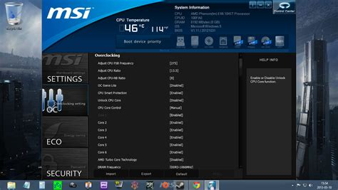 reset bios msi 970a g46 how does my overclocking settings look
