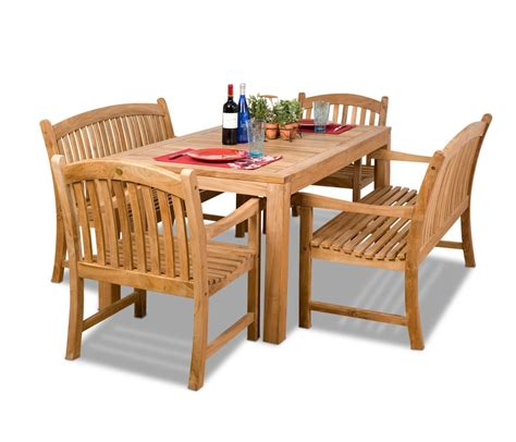 Amazonia Teak Newcastle 9 Piece Teak Rectangular Dining Teak Wood Patio Furniture Set