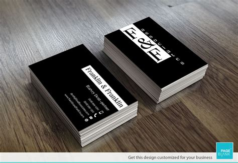 Modern Black Business Cards Theveliger Black Business Card Template