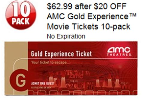 costco printable movie tickets costco deal on amc gold experience movie tickets