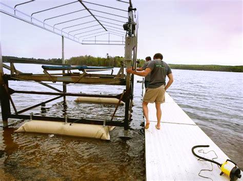 boat lift helper air bags boat lift helper how it works boat lift installation