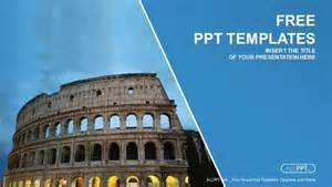 Ancient Powerpoint Template by Beautiful View Of Ancient Colosseum Powerpoint