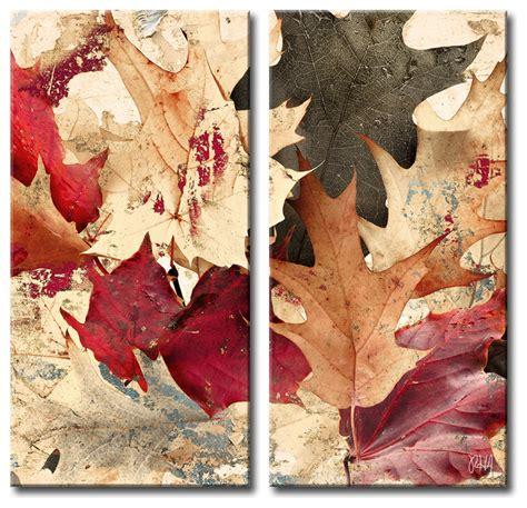 fall wall decor fall ink ix canvas wall 2 canvas set