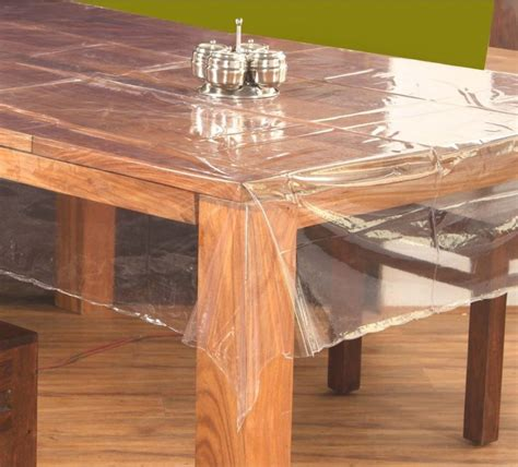 Dining Table Plastic Cover Sukhmani Clear Transparent Pvc Vinyl Table Cover 60 90 Inches 8 Chairs