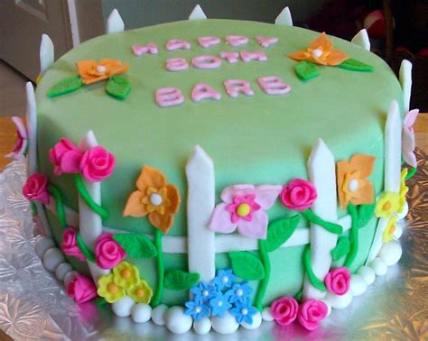 Flower Garden Birthday Cake Cakes Pinterest Flower Garden Cake Ideas