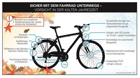 Beschriftung Verkehrssicheres Fahrrad by Fahrrad Winterfit Machen Ausr 252 Stung Radtourenmagazin