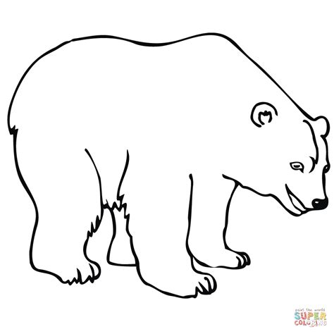Click The Polar Bear Coloring Pages To View Printable Polar Color Page