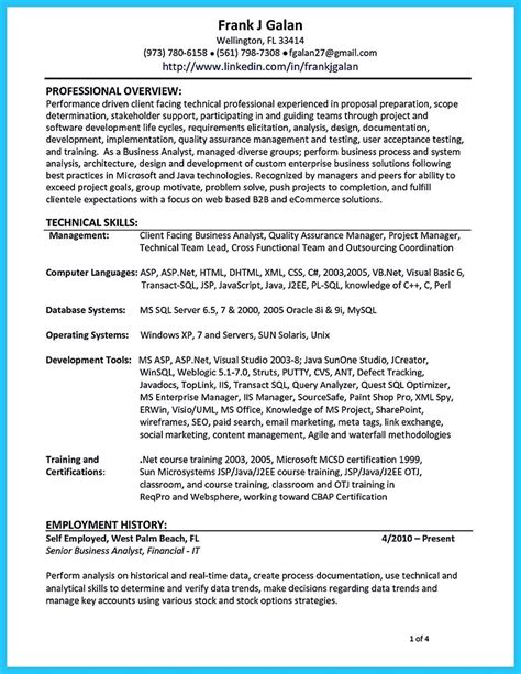 sle resume for qa tester system analyst resume