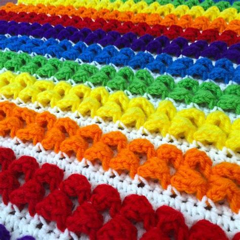 Rainbow Crochet Baby Blanket 10 rainbow crochet patterns to show your true colors