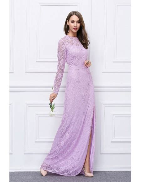 Special Discount Last Stock Only Baju Pesta Wedding chic lace evening dress with sleeves split ck455 90 1 gemgrace