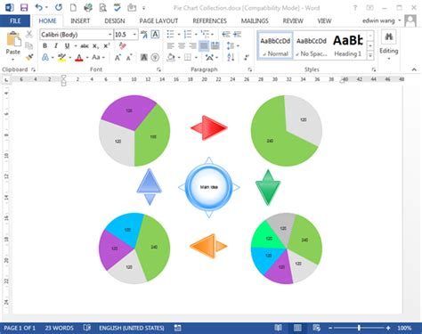 Pie Chart Templates For Word Pie Chart Template Word