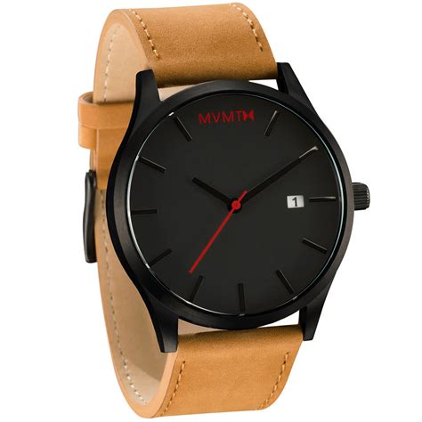 black leather x mvmt watches pictures photos and