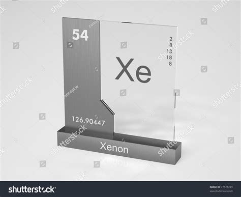 xe on the periodic table xenon symbol xe chemical element periodic stock